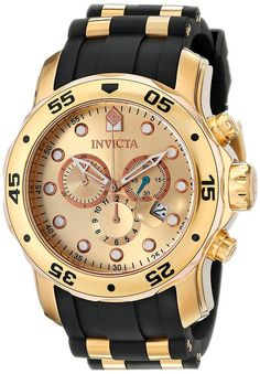 Invicta Men s 17884 Pro Diver 18k Gold Ion-Plated Stainless Steel  Chronograph Watch Športové Hodinky c0b6450507