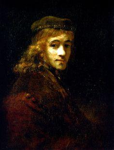Rembrandt van Rijn - Portrait of Titus (Son of Rembrandt) at Louvre Museum Paris France