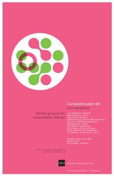 Conference flyer for CompostModern - by welovecompany // nicole flores