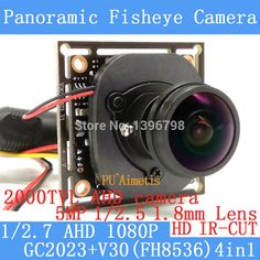 Cheap camera module, Buy Quality cctv surveillance directly from China hd cctv Suppliers: 2MP 1080P 4in1 AHD Coaxial 360Degree Fisheye Panoramic HD CCTV Surveillance Camera Module 2000TVL 1.8mm Lens ODS/BNC Cable