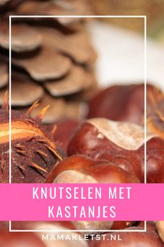Knutselen met kastanjes Snack Recipes, Snacks, Chips, Education, Baby, Food, Snack Mix Recipes, Appetizer Recipes, Appetizers