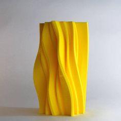 yellow vases