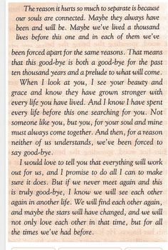 THE NOTEBOOK Nicholas Sparks, Our souls are connected! Miss you! Grief