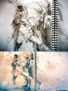 The art is so beautiful and freaking amazing! France and Chibi!Enlgland.