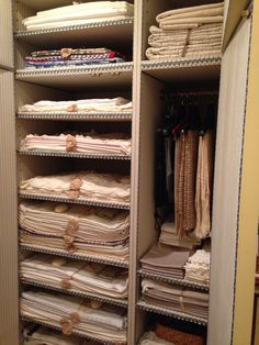 Linen closet, NY apartment of Howard Slatkin FIFTH AVENUE STYLE