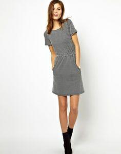 Textured Spot Print Dress