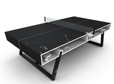 The CHALK ping-pong table, designed by aruliden for PUMA. Redefining the ping-pong table for that after hours athlete. Made by hand, the chalk table incorporates ash wood legs and a ceramic chalk surface – bringing a whole new spin to the game. Black Chalkboard Paint, Chalkboard Table, Chalkboard Designs, Chalkboard Ideas, Ping Pong Games, Ping Pong Paddles, Blog Deco, Deco Design, Wood Design