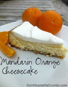 Mandarin Orange Cheesecake #Recipe