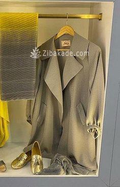 آموزش دوخت مانتو در مرحله ی دوخت ابتدا - زیباکده Sewing Basics, Duster Coat, Butterfly, Leather Jacket, Jackets, Dresses, Fashion, Studded Leather Jacket, Down Jackets