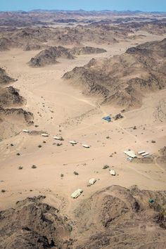 Aerial view of Hoanib Skeleton Coast Camp #Damaraland #Namibia #safari