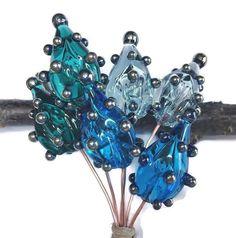 6 Headpins, Lampwork Headpin Pairs, Hollow Pod Headpins, Lampwork Glass Pods, Copper Headpins, Glass Beads, Jewelry Making - MTO Handmade Beads, Earrings Handmade, Handmade Jewelry, Unique Jewelry, Silver Jewelry, Handmade Gifts, Shops, Turquoise Glass, Head Pins