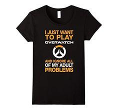 O-verwatch Fashionable Mens and Womens All-Purpose t-Shirts Black