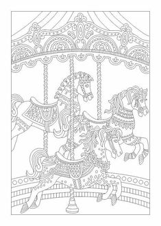Unicorn And Pearls Fantasy Coloring Page Adult Instant
