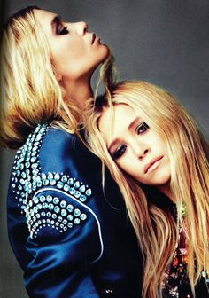 Ashley Olsen and Mary-Kate Olsen photographed by Alexei Hay for Elle UK, April 2012