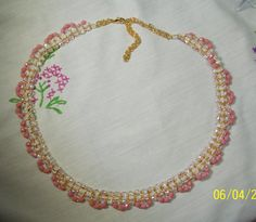Fabulous Pink Coral and Gold Seed Bead Necklace and by gartenglitz, $25.00