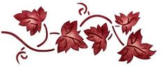 """Leaves boarder stencil Two overlay5 1/2"""" Tall x 12 1/2""""280 Grapevine at American Home Stencils"""