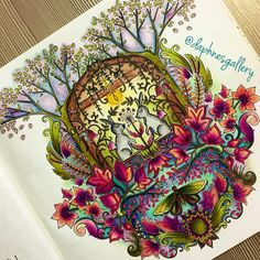 Enchanted Forest Coloring Book Tree See This Instagram Photo By Daphnesgallery O 573 Likes