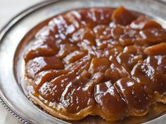 Caramelized Apple Tart (Tarte Tatin). All you need to do to convert to GF is use a GF flour in your puff pastry.