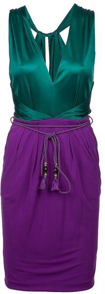 Gucci Purple Vneck Dress