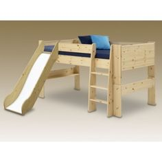 ea061b89f00 Steens For Kids Continental Single Mid Sleeper With Slide In Pine - The  Steen s For Kids