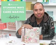 Stunning Ways to Supercharge Your Card Making with Frank Garcia Craft Projects For Adults, Learn Something New Everyday, Beautiful Handmade Cards, Handmade Journals, School Gifts, Do It Yourself Home, Journal Cards, Your Cards, Diy Cards