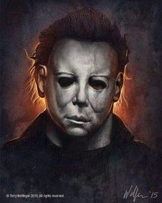 "Horror Movie Art : Halloween 1978 ""Michael Myers"" by Terry Wolfinger"