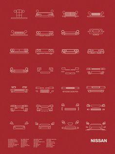 Auto Icon Screen Print Series: Nissan