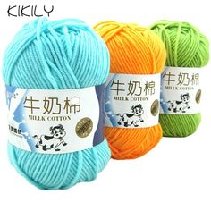 50g/ball High Quality Warm DIY Milk Cotton Yarn Baby Wool Yarn for Knitting Children Hand Knitted Yarn Knit Blanket Crochet Yarn-in Yarn from Home & Garden on Aliexpress.com | Alibaba Group