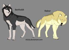 Snk Wolves - Reiner And Bertholdt by Nicicia.deviantart.com on @deviantART