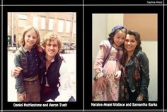 awweee isn't this just sooo cute? Daniel Huttlestone with Broadway star Aaron Tveit, Natalya Angel-Wallace with West End star Samantha Barks :) the amazing Les Mis movie cast! ;) hehe created by mee! :D      Daniel Huttlestone as Gavroche and Aaron Tveit as Enjolras. Natalya Angel-Wallace as young Eponine, and Samantha Barks as Eponine! :D