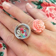 NEW TWIST Silver memory floating locket RINGS fit by CCinspired, $23.00