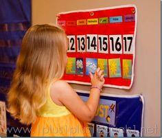 Home Preschool Calendar Time