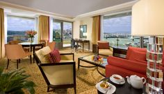 Deluxe Corner Suite with Danube river, Buda Castle and Chain Bridge view Budapest Marriott Hotel in Budapest, Hungary