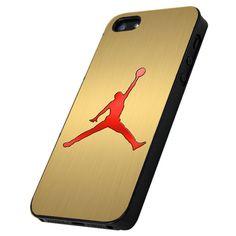 Air Jordan Nike Gold Logo - Print Hard Case iPhone or iPhone 5 Case - Black or White Bumper (Option)