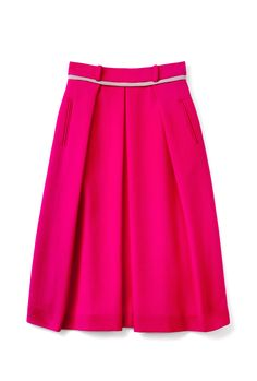 PREEN PINK A-LINE BOX PLEAT SKIRT $1,287.00 Go for tailoring in hot pink and you've instantly earned yourself some serious style points. Due to the length, heels are a must and perhaps a little leather too...
