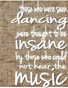 Vintage Music Quote 8x10 by SpeakLifeCreations on Etsy, $12.00