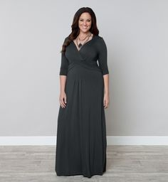 Very unhappy with this purchase. Cotton blend material is too informal for a wedding guest. Sizing runs far too big. I am a 38 DD, and the chest area is falling off me. 1X would still be too large for me, without alterations. Plus Size Maxi Dress - Desert Rain by KIYONNA