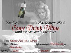 lol! Bachelorette Party invite idea