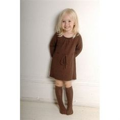Bamboo Baby's Original and best selling knitted dress made from soft 70% organic bamboo 30% organic cotton. Just gorgeous with leggings, tights or knee length socks. Chocolate colour