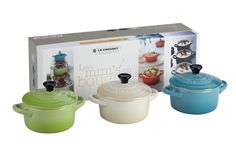 Le Creuset Set of 3 (4 oz.) Mini Cocottes