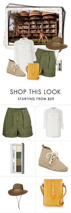 """""""On Safari"""" by ahapplet ❤ liked on Polyvore featuring Disney, Topshop, Dorothy Perkins, Clinique, Soludos, disney, park and ahapplet"""