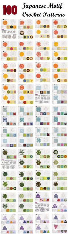 100 Japanese Crochet Motif Patterns