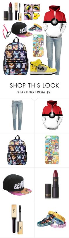 """""""Pokémon"""" by gamergirl45723 ❤ liked on Polyvore featuring Frame Denim, Loungefly and Lipstick Queen"""
