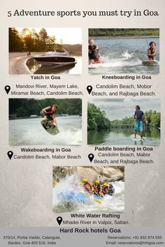 5 Adventure sports you must try in Goa. Goa Travel, Kerala Travel, India Travel Guide, Travel Route, Travel And Tourism, Travel Destinations, Best Places To Travel, Cool Places To Visit, Paddleboarding