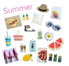"""""""Summer things"""" by popcorn1403 on Polyvore featuring interior, interiors, interior design, home, home decor, interior decorating, Pinko, Olympia, Levtex and Kate Spade"""