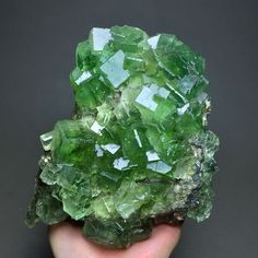 1353g Natural Light Green Cube Fluorite Crystal Cluster Mineral Specimen/China