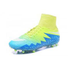 sports shoes 219ff 40739 Acquistare 2017 Nike Hypervenom Phantom II FG Blu Giallo Scarpe Da Calcio
