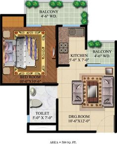 Studio Apartment Noida nyc 350 sqft studio apartment - layout | person needs very little