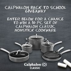 Calphalon Back To School Giveaway (Ends 8/21)