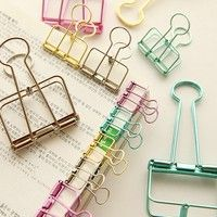 Wish | 4Pcs Paper Clips Binder Clips Bookend Retro Dovetail Clamp Home Office School File Paper